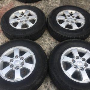 16 strada mags used with 205 80r16 bridgestone tires